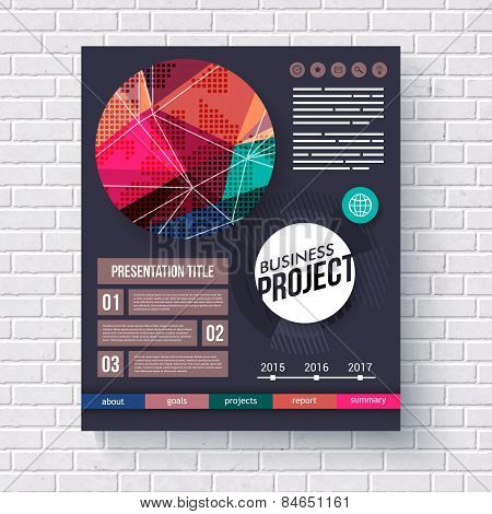 Stylish modern Business Project infographic