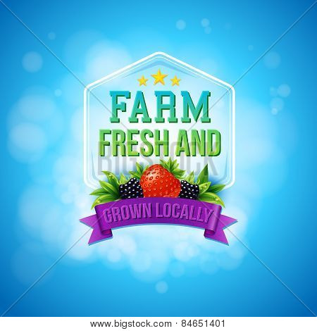 Colorful poster design for Farm Fresh produce