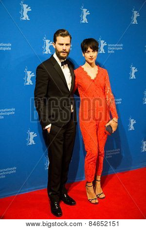 BERLIN, GERMANY - FEBRUARY 11: Actor Jamie Dornan and Amelia Warner, 'Fifty Shades of Grey' premiere. 65th Berlinale International Film Festival at Zoo Palast on February 11, 2015 in Berlin, Germany.