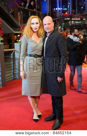 BERLIN, GERMANY - FEBRUARY 14: Andrea Sawatzki and Christian Berkel attend the Closing Ceremony of the 65th Berlinale International Film Festival on February 14, 2015 in Berlin, Germany