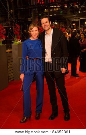 BERLIN; GERMANY - FEBRUARY 14: Franziska Weisz and Felix Herzogenrath attend the Closing Ceremony of the 65th Berlinale International Film Festival on February 14; 2015 in Berlin; Germany