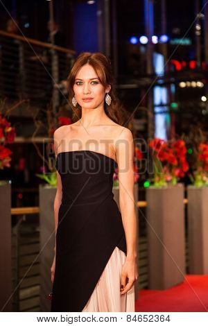 BERLIN, GERMANY - FEBRUARY 14: Olga Kurylenko attends the Closing Ceremony of the 65th Berlinale International Film Festival at Berlinale Palace on February 14, 2015 in Berlin, Germany.