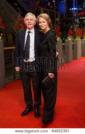 BERLIN, GERMANY - FEBRUARY 14: Tom Courtenay and Charlotte Rampling attend the Closing Ceremony of the 65th Berlinale International Film Festival on February 14, 2015 in Berlin, Germany.