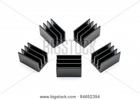 Black Aluminium Heat Sinks