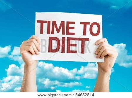 Time to Diet card with sky background