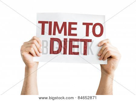 Time to Diet card isolated on white background
