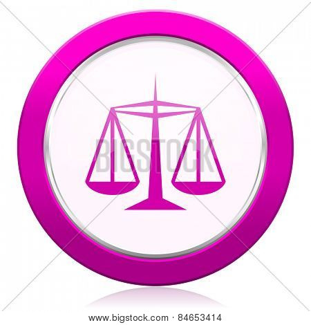 justice violet icon law sign