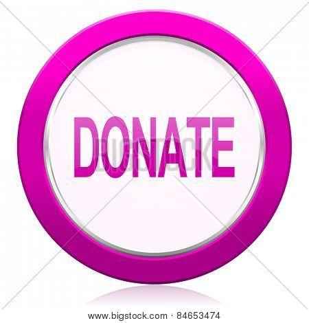 donate violet icon