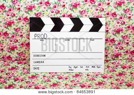 Homemade Slate Film on Rose Background