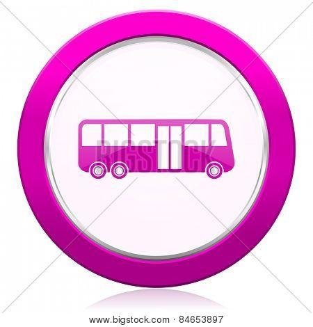 bus violet icon public transport sign