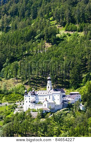Monte Maria Abbey near Burgusio, Trentino-Alto Adige, Italy
