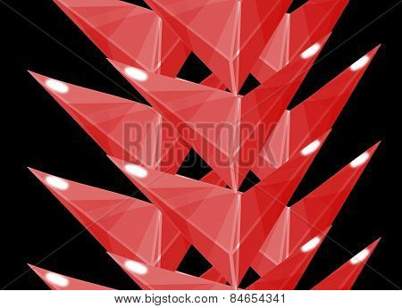 Red Barbed Vertical Border