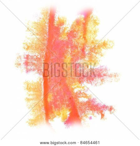 Abstract watercolor background yellow, pink for your design insu