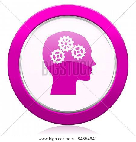 head violet icon human head sign