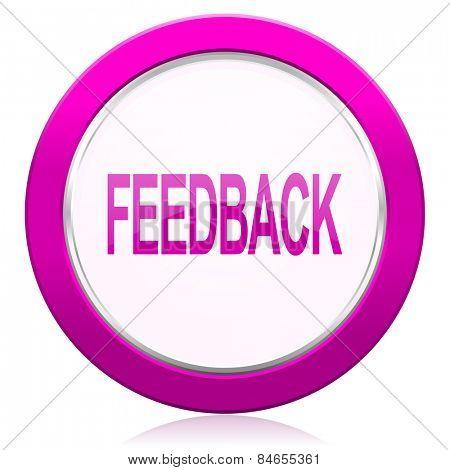 feedback violet icon