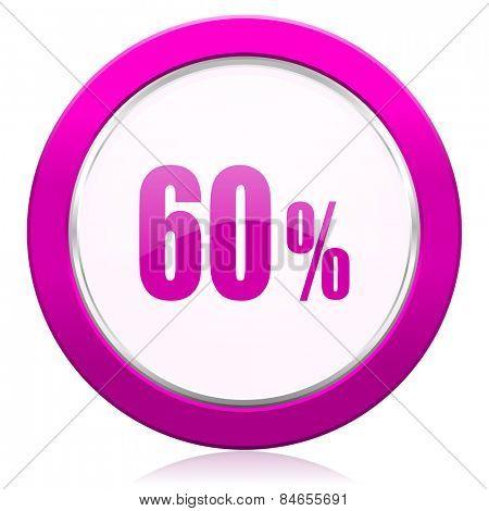 60 percent violet icon sale sign