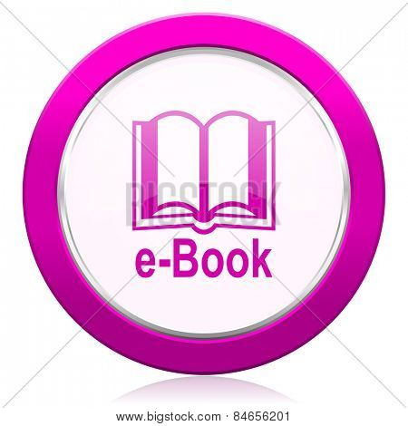 book violet icon e-book sign