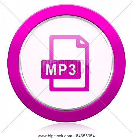 mp3 file violet icon