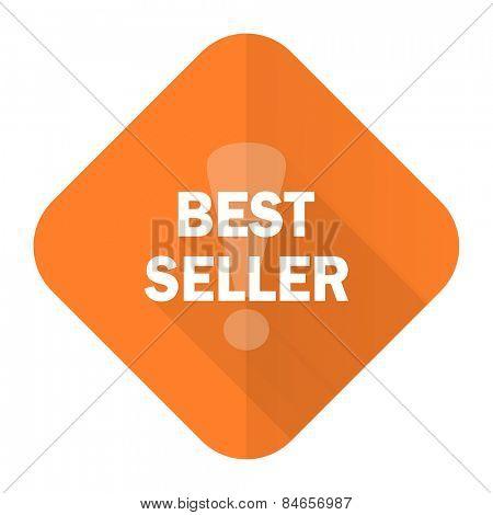 best seller orange flat icon