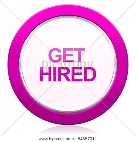get hired violet icon