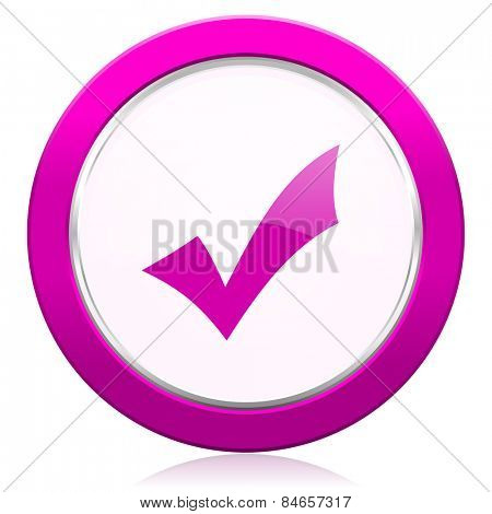 accept violet icon check sign