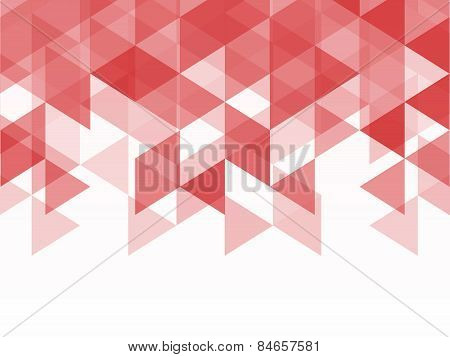 Geometric Triangle Abstract Background Of Red And Pink