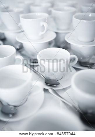 Stacked Coffee And Tea Cups