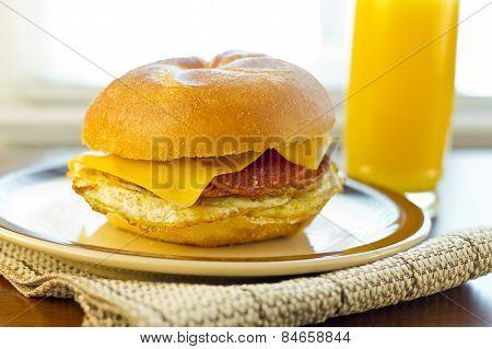 Taylor Ham Breakfast Sandwich