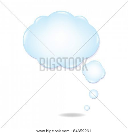 Cloud Speech Bubble With Gradient Mesh, Vector Illustration