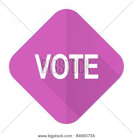 vote pink flat icon