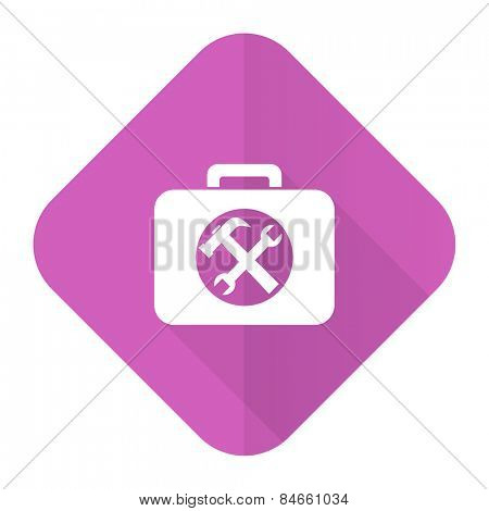 toolkit pink flat icon service sign