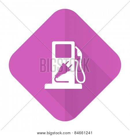 fuel pink flat icon hybrid fuel sign