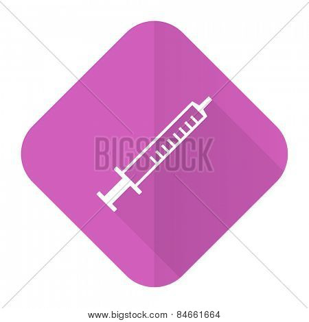 medicine pink flat icon syringe sign