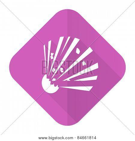 bomb pink flat icon