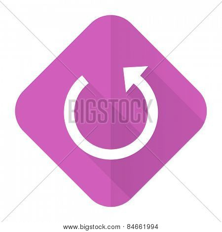 rotate pink flat icon reload sign