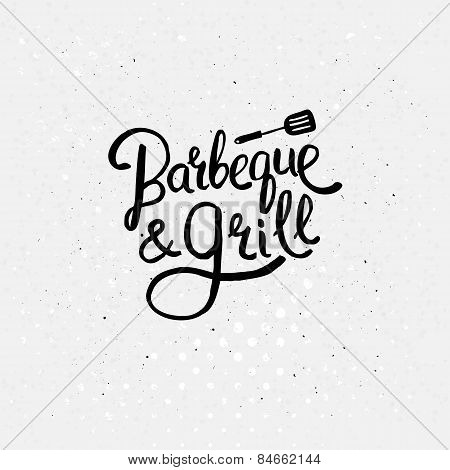 Simple Text Design for Barbecue and Grill Concept