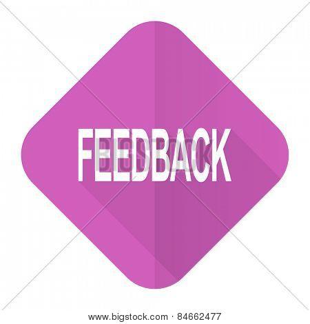 feedback pink flat icon
