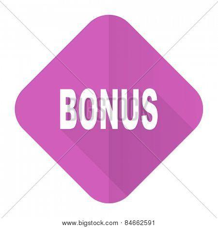 bonus pink flat icon