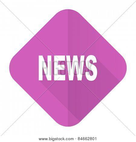 news pink flat icon