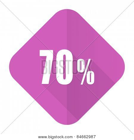 70 percent pink flat icon sale sign