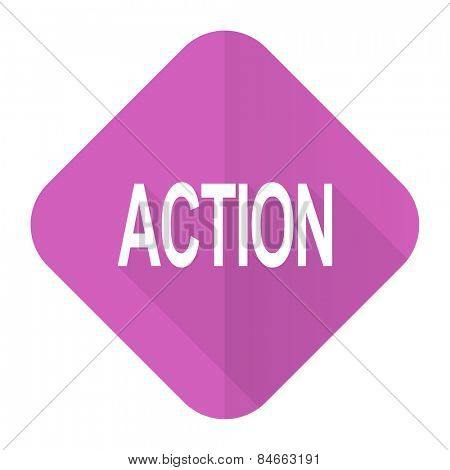 action pink flat icon