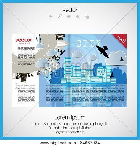 Layout journal, vector