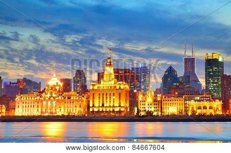 The Bund waterfront in Shanghai, China