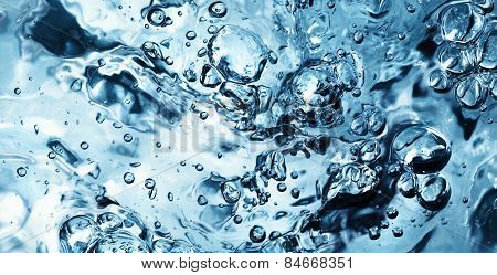 Water Wave With Bubbles