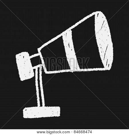 Telescope Doodle Drawing