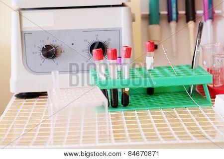 Insert blood tube