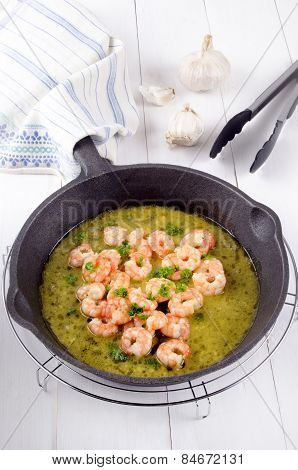 Scampi With Melted Butter And Parsley