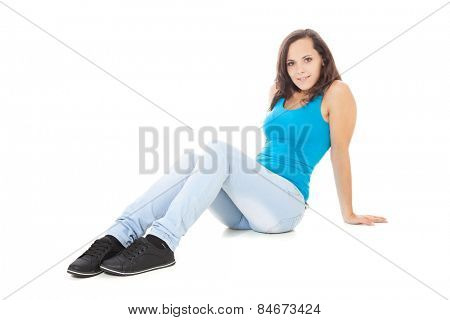 Full length shot of an attractive teenage girl