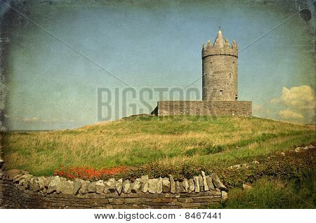 Ancient Irish Castle On West Coast Ireland