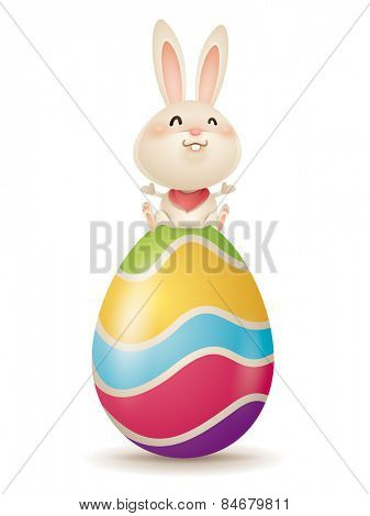 Easter bunny and egg
